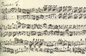 Autograph manuscript of Two-Part Invention #8