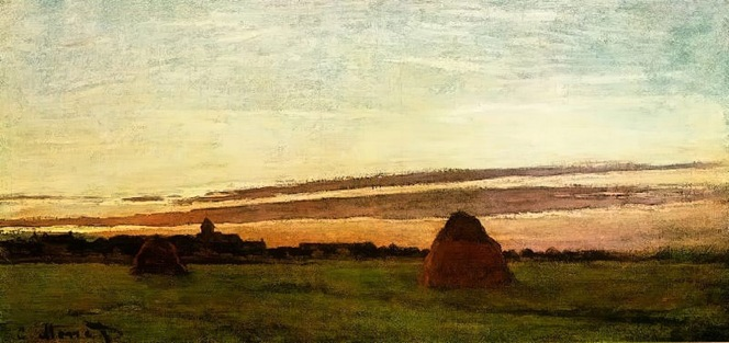 Monet - Haystacks at Chailly at Sunrise