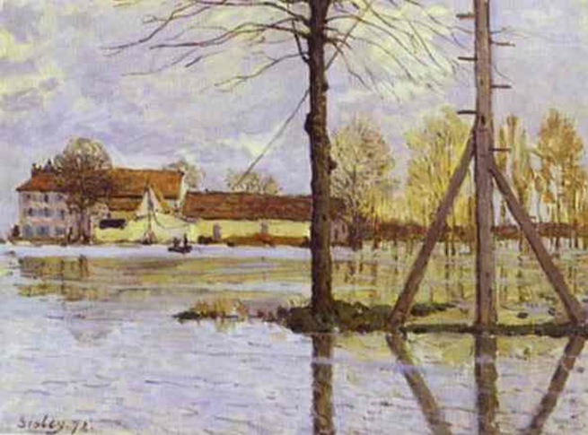Sisley - Ferry to the Ile-de-la-Loge