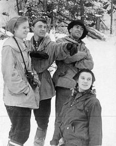 (L to R) Ludmilla D., Rustem S., Nikolai T., Zinaida K., early 1959